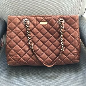 kate spade Quilted Brown Chain Bag
